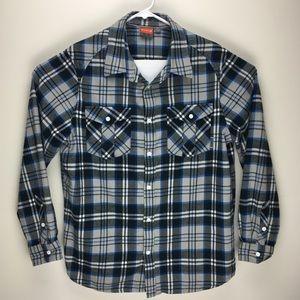 Merrell mens flannel long sleeve button up shirt